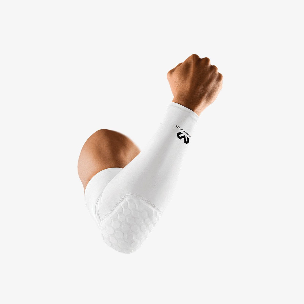 McDavid Hexpad Power Shooter Arm Sleeve - White