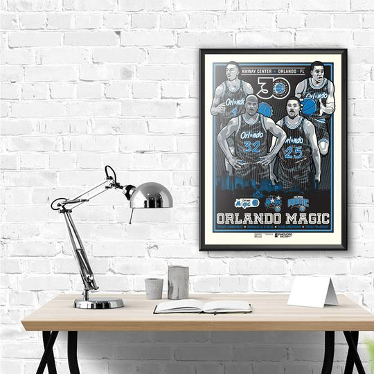 "Orlando Magic 30th Anniversary 18""-24"" Serigraph Print"