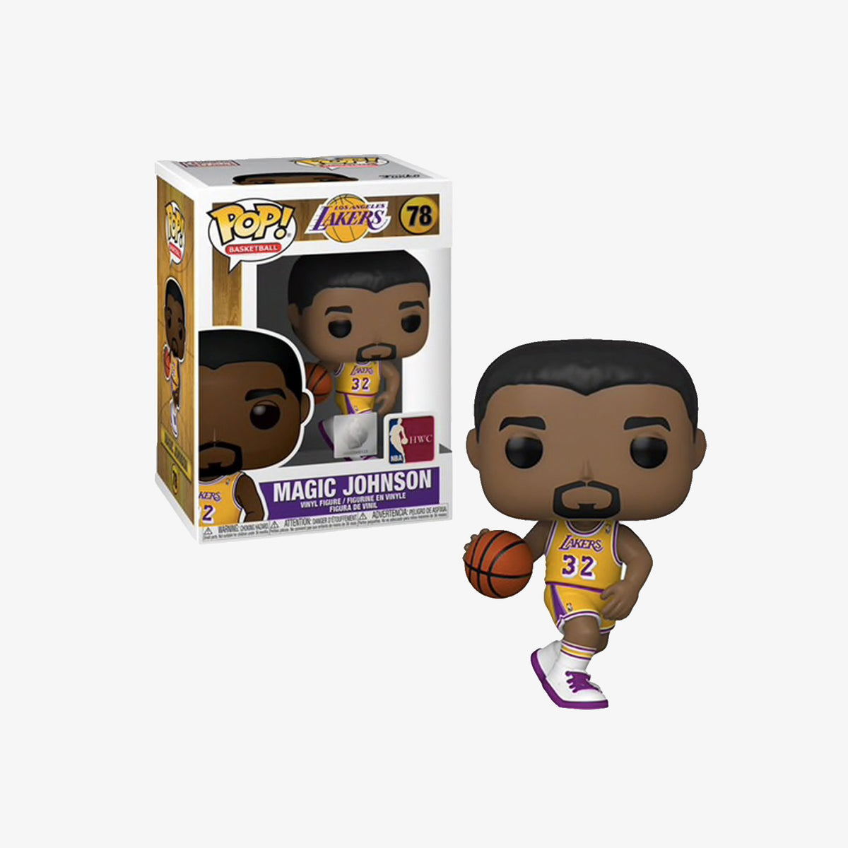 Magic Johnson Los Angeles Lakers NBA Legends Pop Figure - Yellow