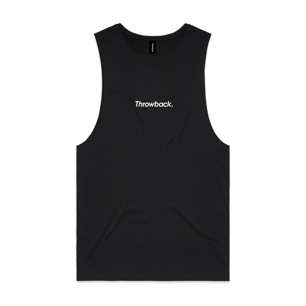 Throwback Flock Tank Top - Black