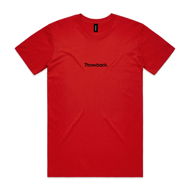 Throwback Flock T-Shirt - Red