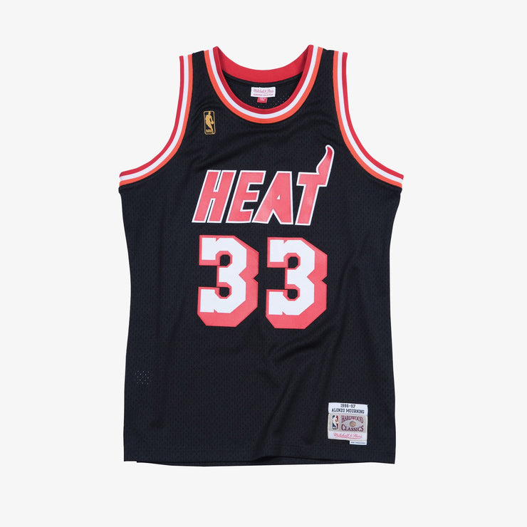 Miami Heat Alonzo Mourning 96-97 HWC Swingman Jersey - Black