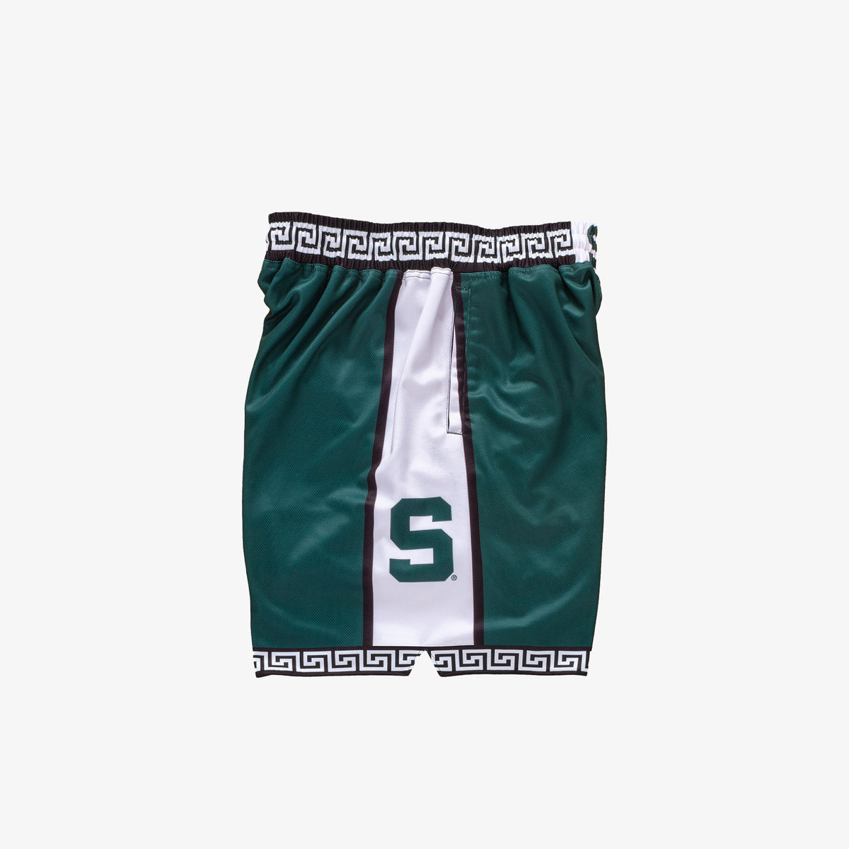 Michigan State 1999-200 Retro College Basketball Shorts - Green