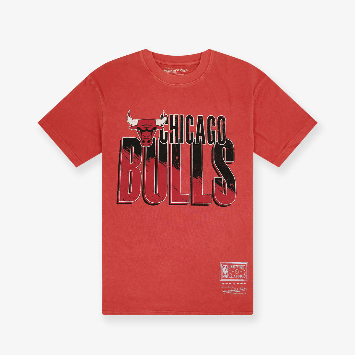Chicago Bulls Vintage Scribble T-Shirt - Faded Red