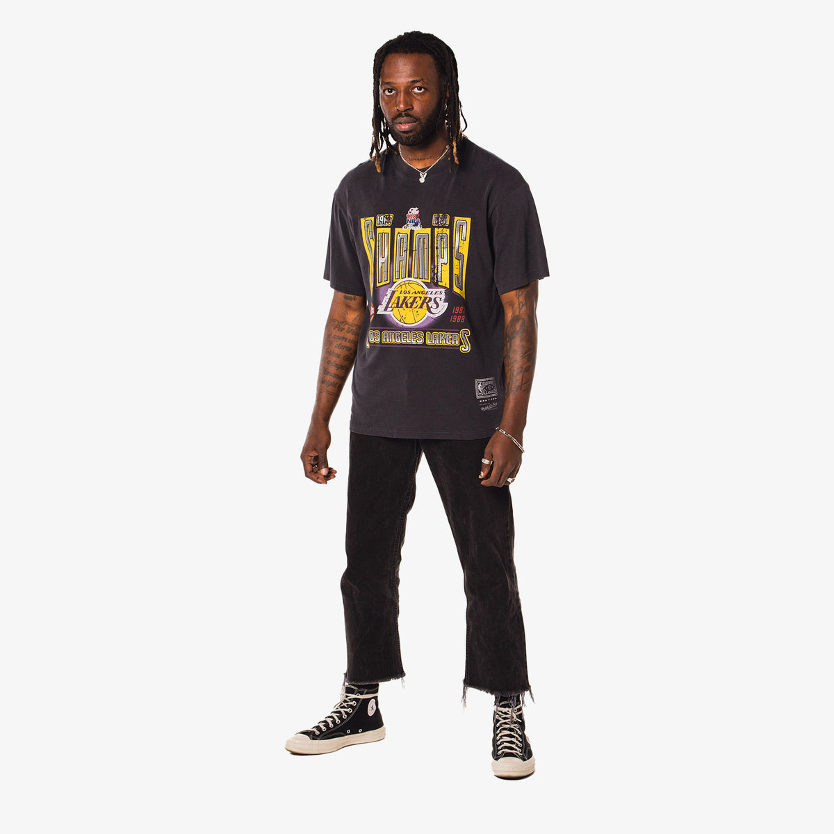 Los Angeles Lakers Vintage Winner Takes All T-Shirt - Faded Black