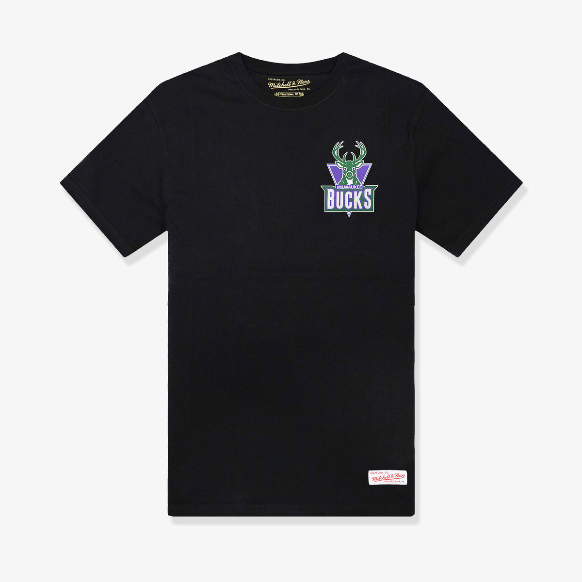 Milwaukee Bucks Retro Repeat Logo T-Shirt - Black