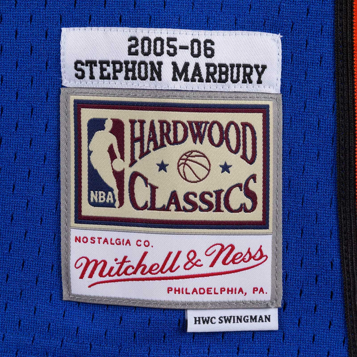 New York Knicks Stephon Marbury 05-06 HWC Swingman Jersey - Royal