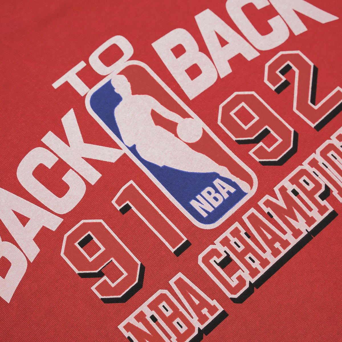 Chicago Bulls Vintage Back to Back Tee - Faded Maroon