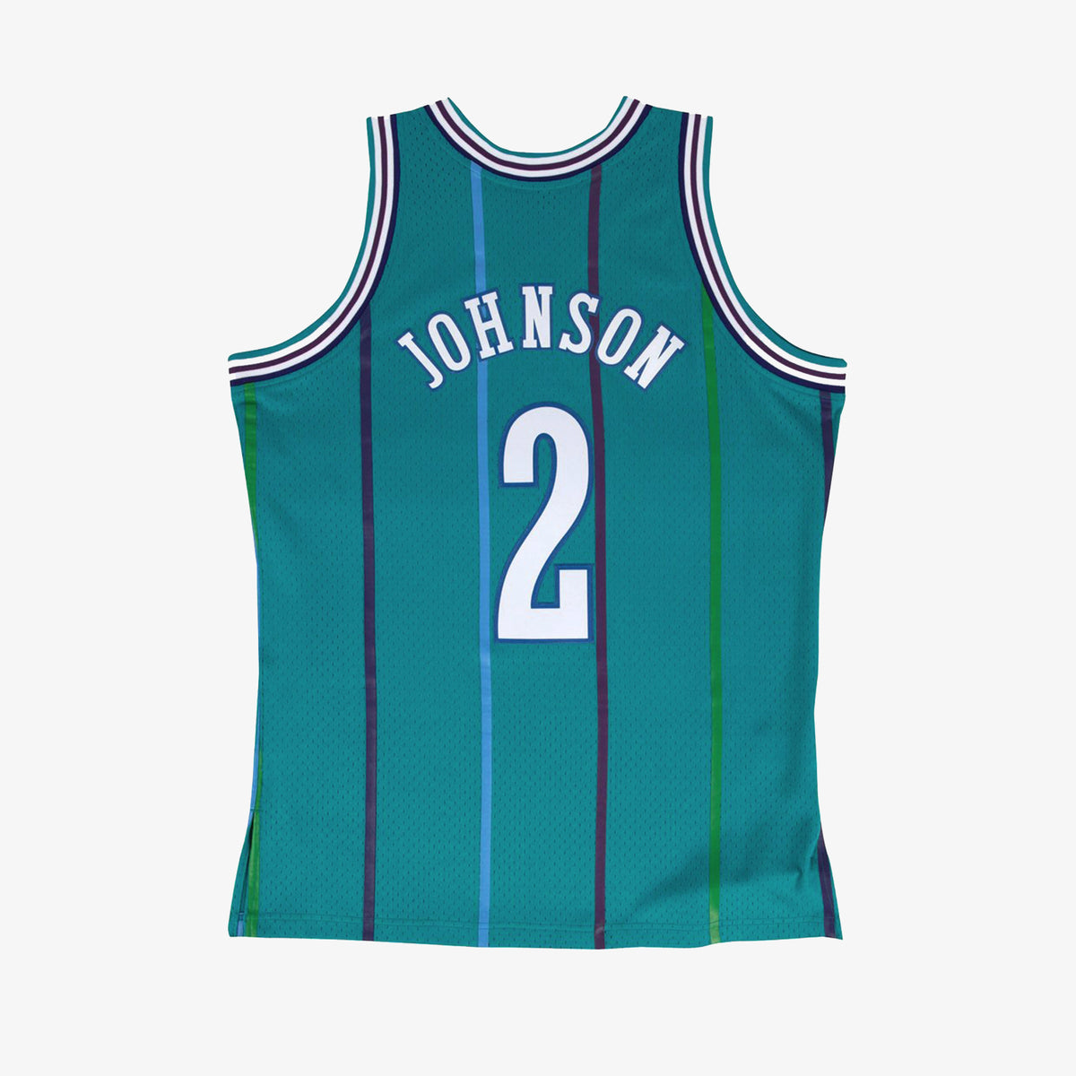 Charlotte Hornets Larry Johnson 92-93 HWC Swingman Jersey - Teal