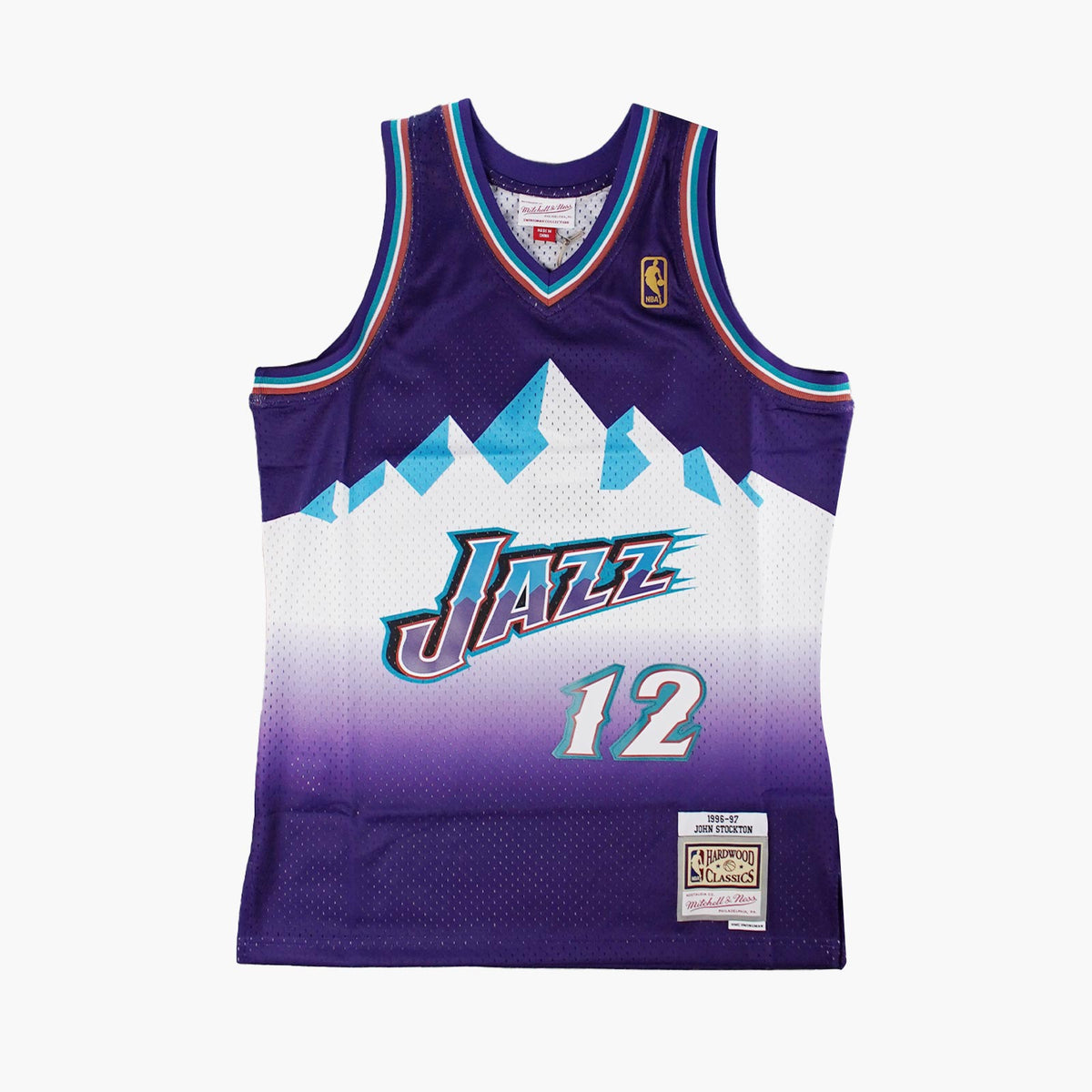 John Stockton Utah Jazz 96-97 HWC Swingman Jersey - Purple