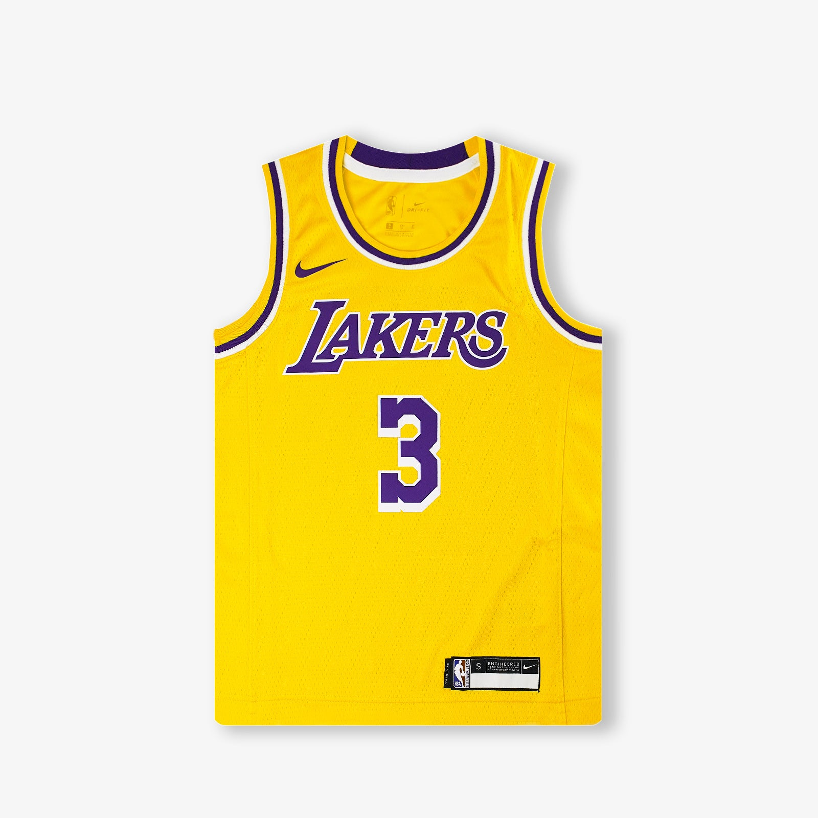 Anthony Davis Los Angeles Lakers Icon Edition Youth Swingman Jersey - Yellow