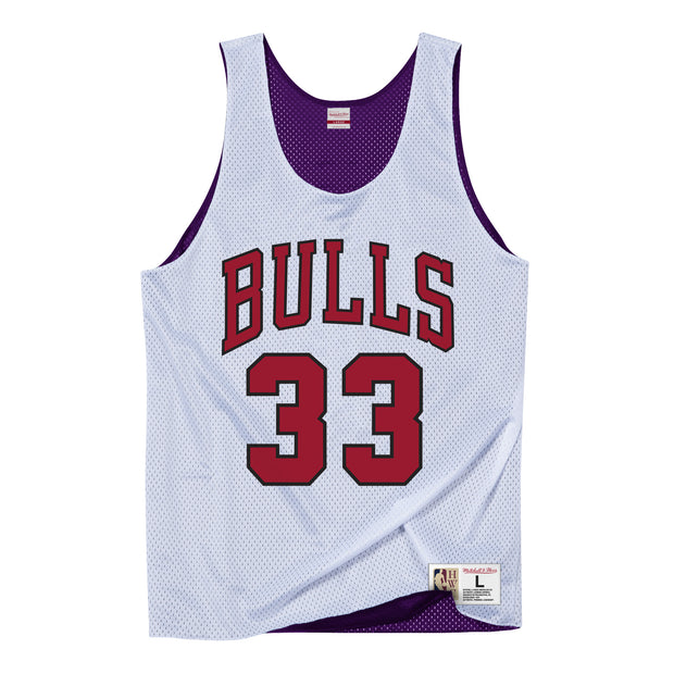 Chicago Bulls All Star 95 Scottie Pippen Reversible Tank Jersey  - White/Purple