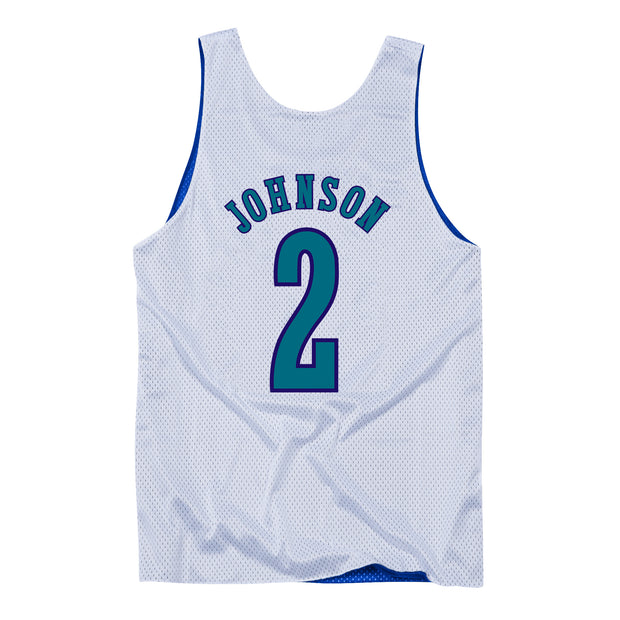 Charlotte Hornets All Star 93 Larry Johnson Reversible Tank Jersey - White/Royal