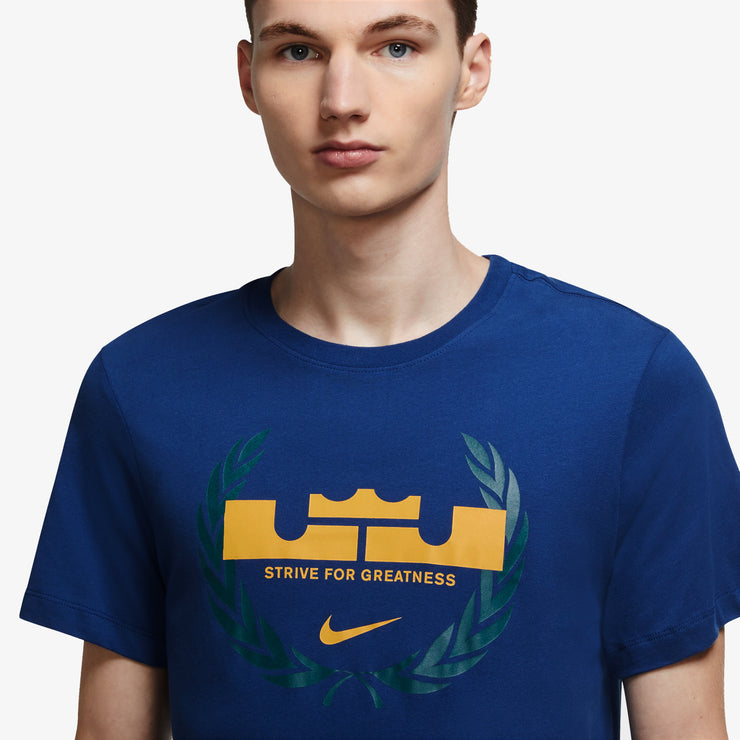 Nike Dri-FIT Lebron Crown Basketball T-Shirt - Blue