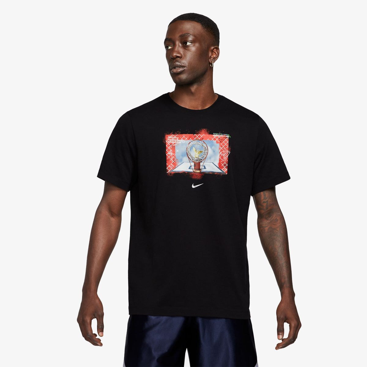 Nike Dri-Fit Hoops Photo T-Shirt - Black