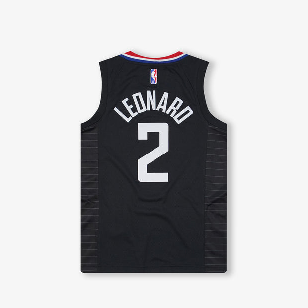 Kawhi Leonard Los Angeles Clippers Statement Edition Youth Swingman Jersey - Black