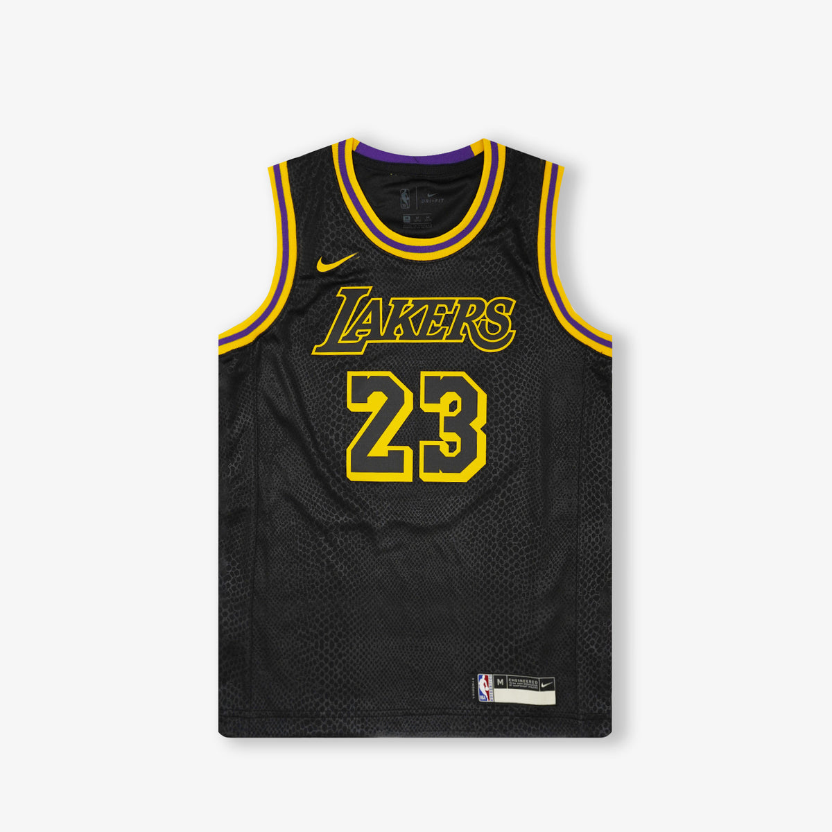 Lebron James Los Angeles Lakers Mamba Edition Youth Swingman Jersey - Black