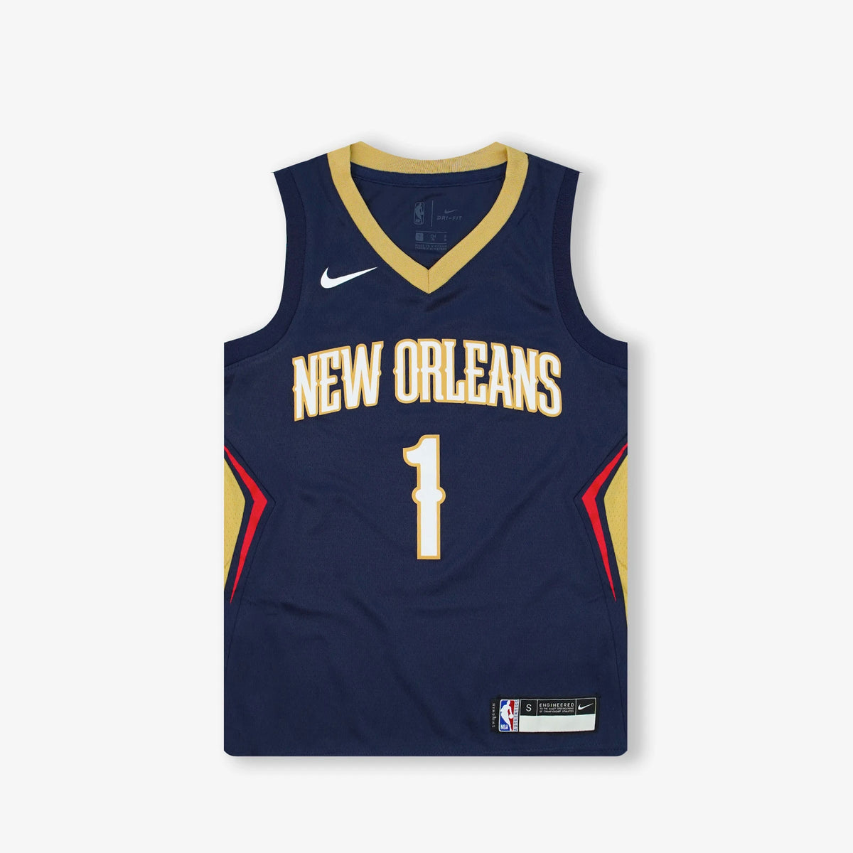 Zion Williamson New Orleans Pelicans Icon Edition Youth Swingman Jersey - Navy