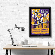 "Los Angeles Lakers Kobe Bryant 18""-24"" Serigraph Print (Black Mamba Edition)"