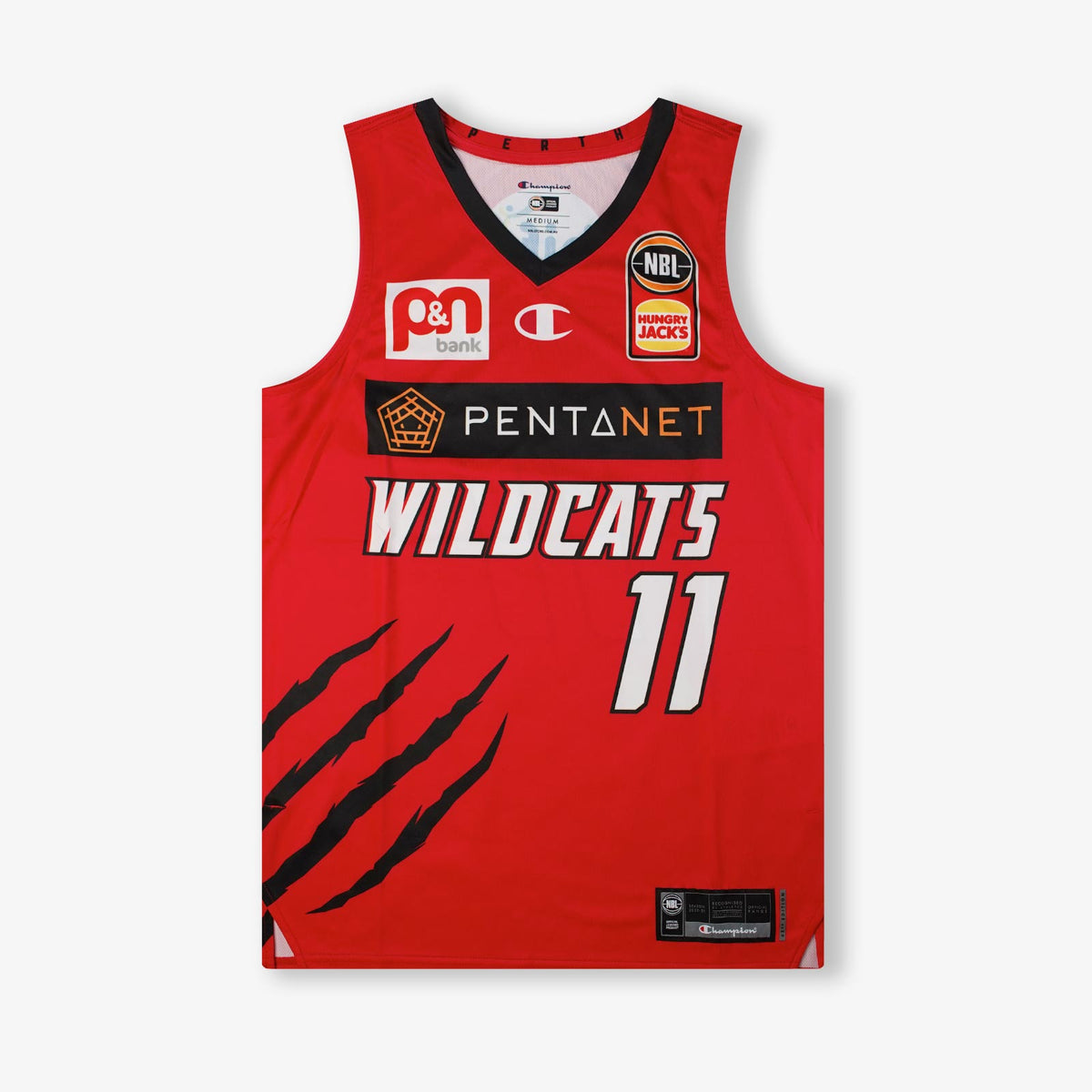 Bryce Cotton Perth Wildcats NBL Home Authentic Jersey - Red