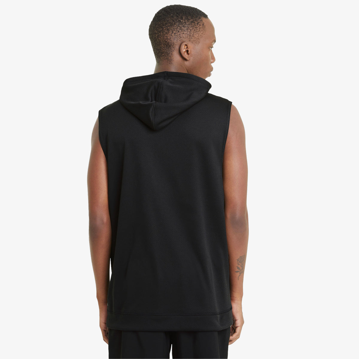 Tech Knit Training Sleeveless Hoodie - Black
