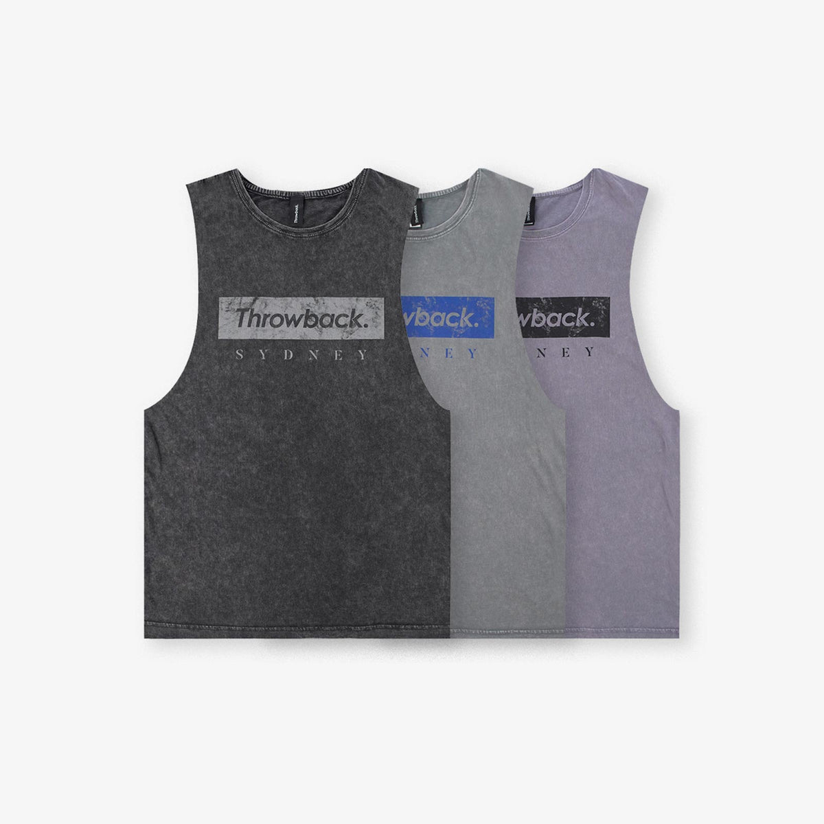 Throwback Sydney Vintage Pre-Game Tank - Black Stone