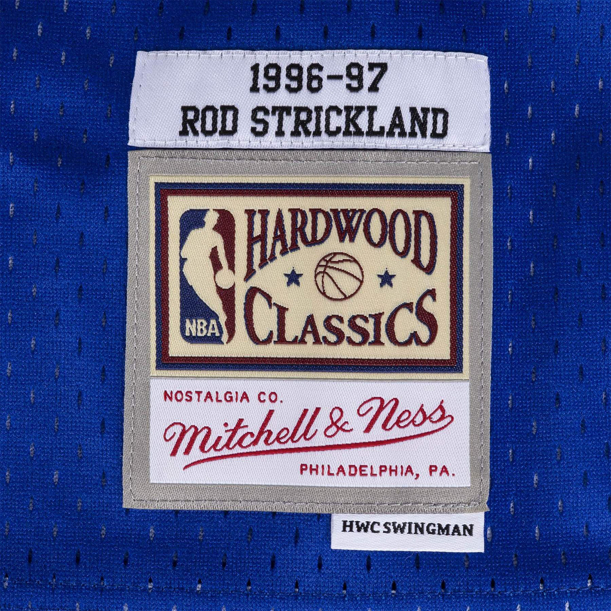 Washington Bullets Rod Strickland 96-97 HWC Swingman Jersey - Royal