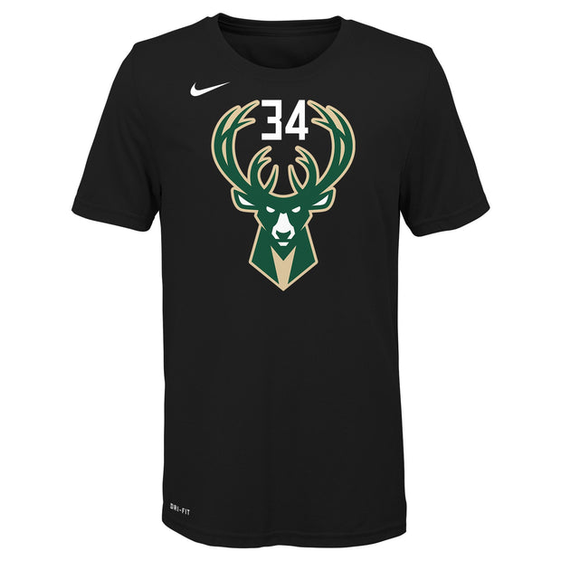 Giannis Antetokounmpo Milwaukee Bucks Kids Statement Name & Number T-Shirt - Black