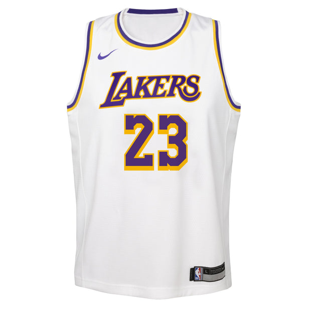 LeBron James Los Angeles Lakers Association Edition Youth Swingman Jersey