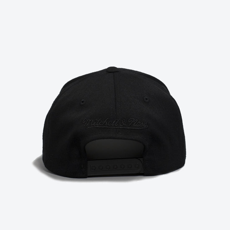 San Antonio Spurs All Black Logo 110 Snapback