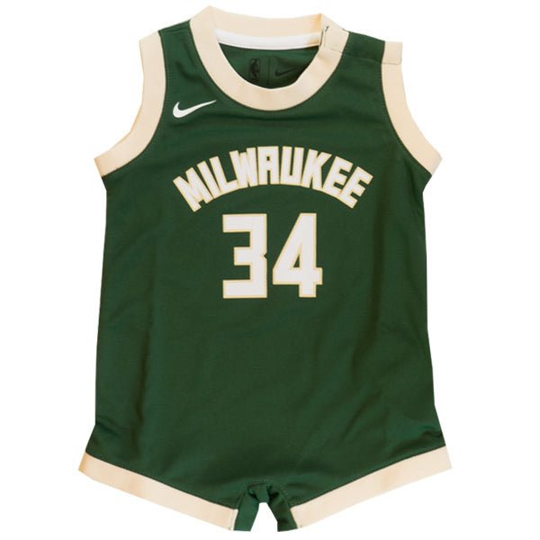 Giannis Antetokounmpo Milwaukee Bucks Icon Edition Replica Onesie Jersey