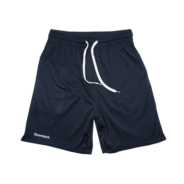 Throwback Basketball Mesh Shorts - Navy