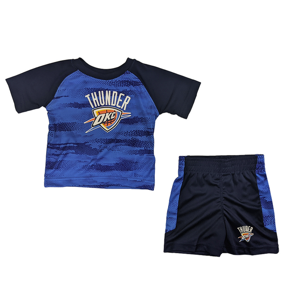Oklahoma City Thunder Double Dribble Tee & Shorts Set
