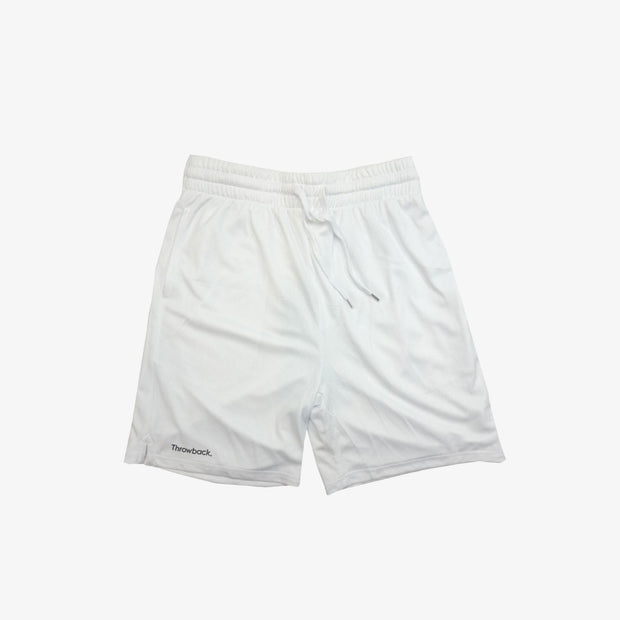 Throwback Basketball Mesh Pocket Shorts - White
