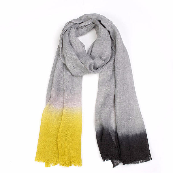 Marled Feature Hem Scarf - Harrison & Co - Lifestyle & Design