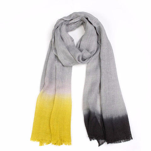 Marled Feature Hem Scarf