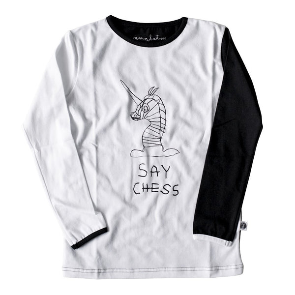 Long Sleeve Top - Say Chess - Harrison & Co - Lifestyle & Design