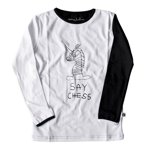 Long Sleeve Top - Say Chess