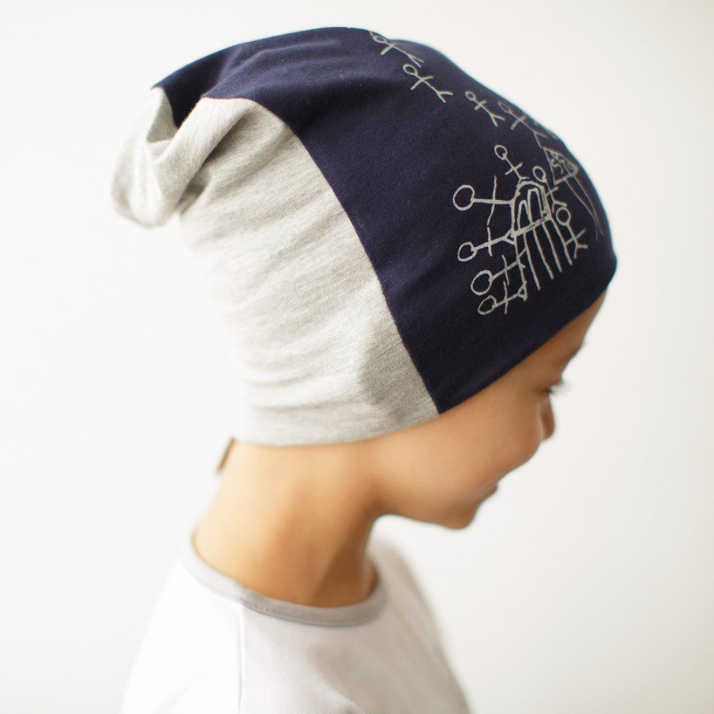 Kids Slouch Beanie Humans - Harrison & Co - Lifestyle & Design