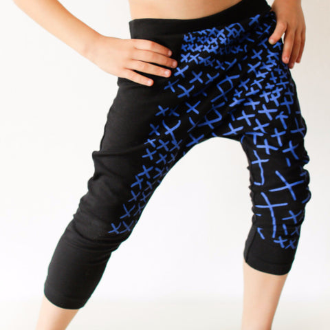Harems Leggings Blue Crosses