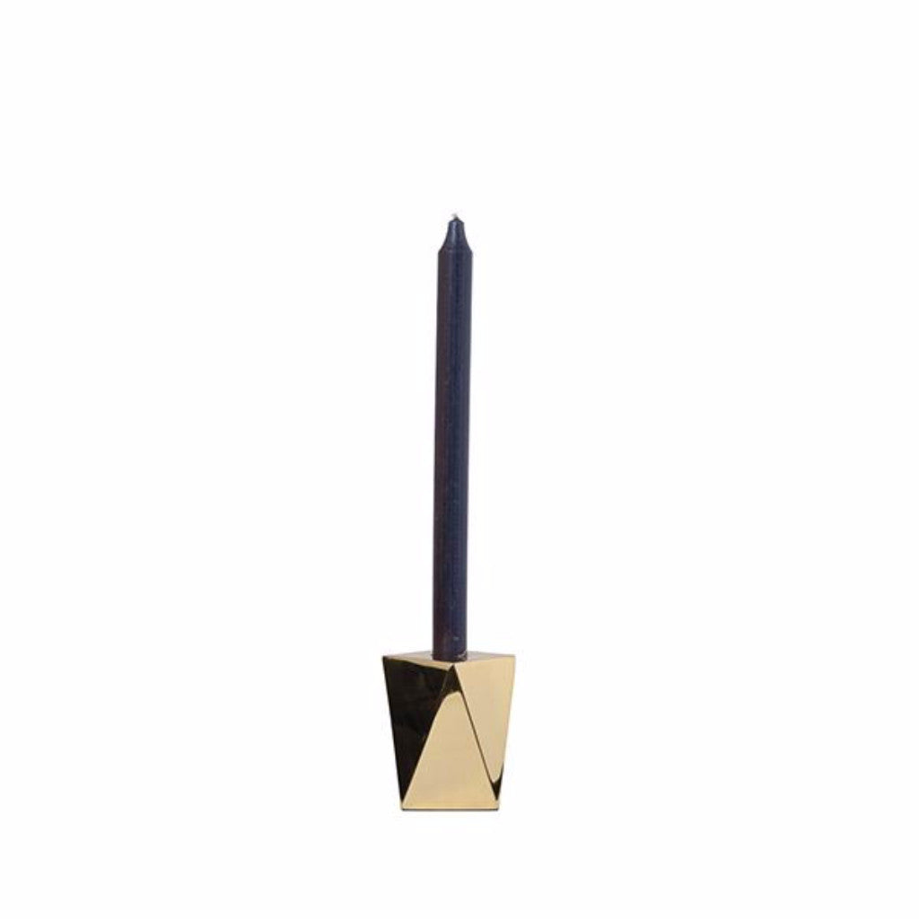 Brass Geometric Candle Holder - Harrison & Co - Lifestyle & Design