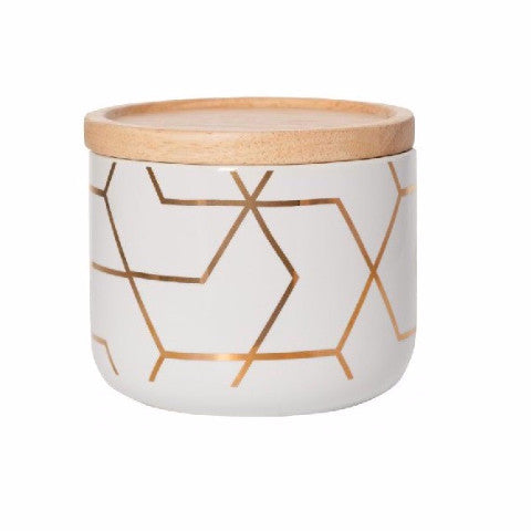 Canister Spiral Hexagon - Short - Harrison & Co - Lifestyle & Design