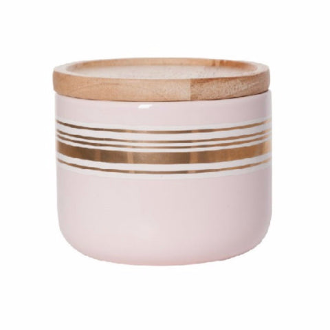 Pink Gold Stripe Canister - Short