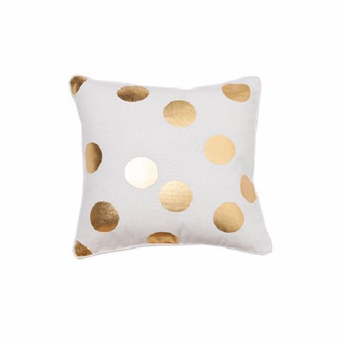 Gold Spot White Cushion