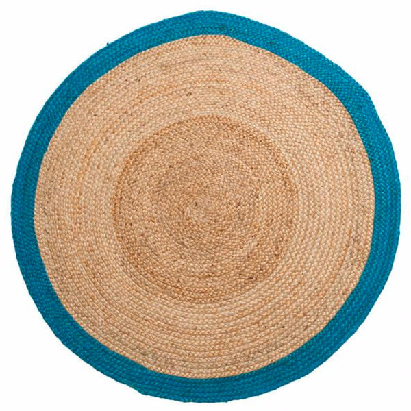 Hemp Round Rug Turquoise - Harrison & Co - Lifestyle & Design