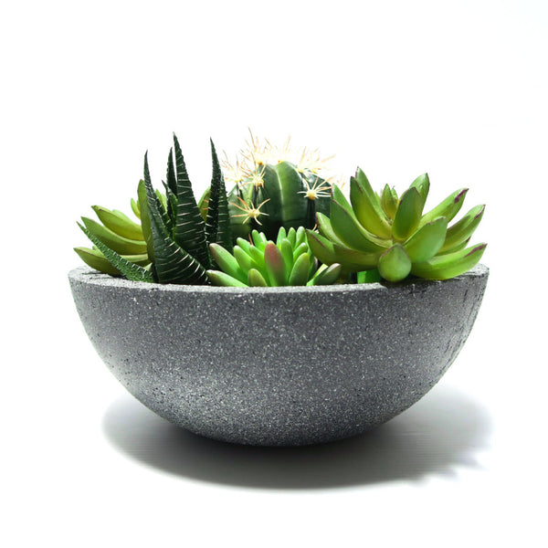 Designer Concrete Blackout Jumbo Lunar Bowl - Harrison & Co - Lifestyle & Design