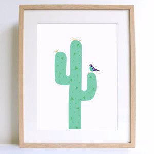 Prickly Cactus A4 Print - Harrison & Co - Lifestyle & Design