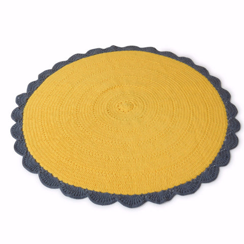 Crochet Sunflower Rug