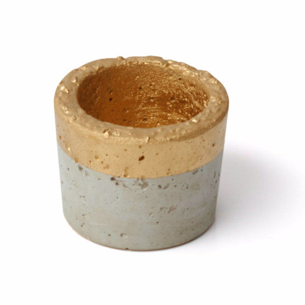 Concrete Large Planter Gold - Harrison & Co - Lifestyle & Design
