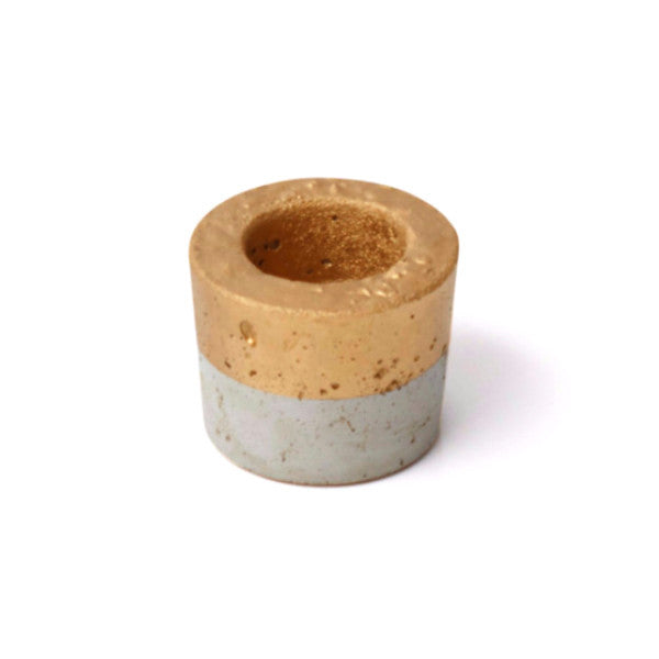 Concrete Medium Planter - Short Gold - Harrison & Co - Lifestyle & Design